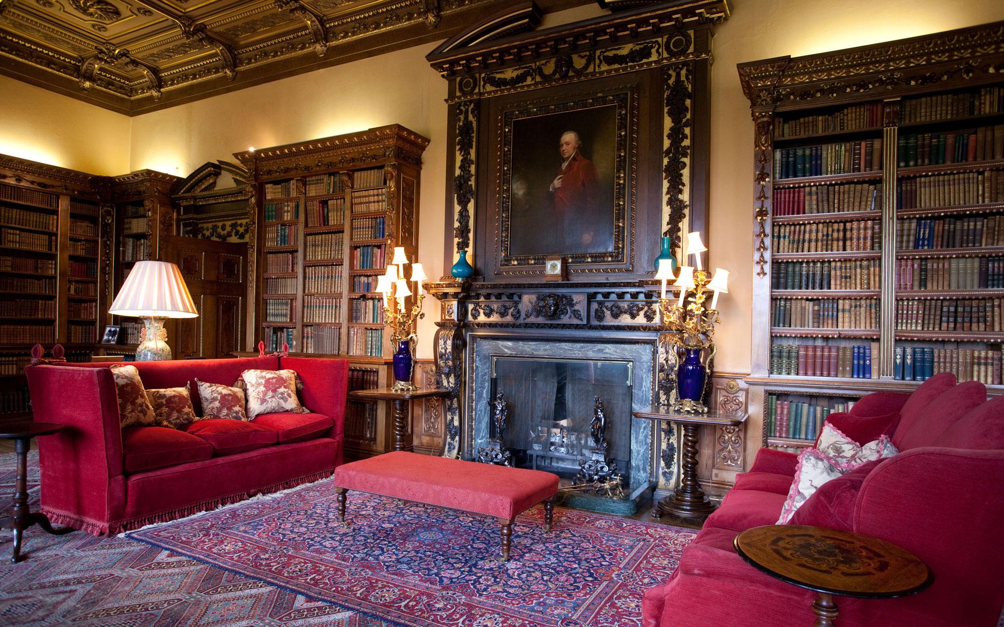 Inside Downton Abbey Library Scene